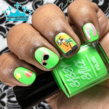 Ain't Always Greener - w/ nail art