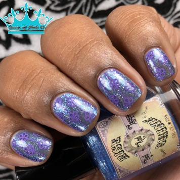 "Rise and Shine Lacquer - ""The Price of Courage"" - w/ nail art"