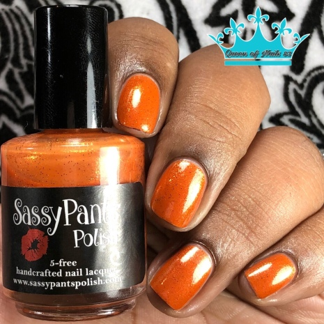 "Sassy Pants Polish - ""Because of the Brave"" - w/ glossy tc"