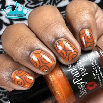 """Sassy Pants Polish - """"Because of the Brave"""" - w/ nail art"""