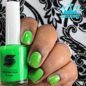 Green Fanny Pack - w/ glossy tc