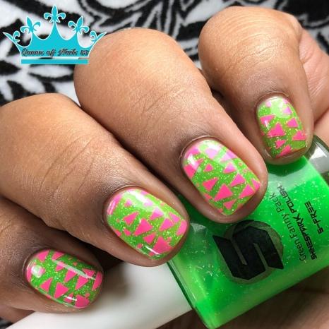 Green Fanny Pack - w/ nail art