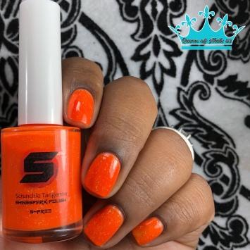Scrunchie Tangerine - w/ glossy tc
