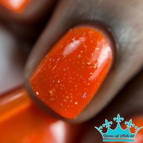 Scrunchie Tangerine - macro