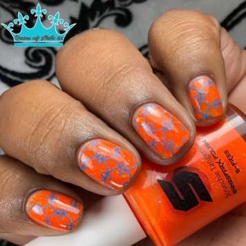 Scrunchie Tangerine - w/ nail art