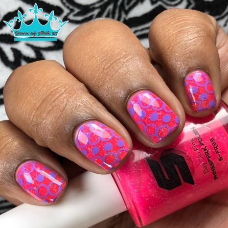 Day Glow Pink - w/ nail art
