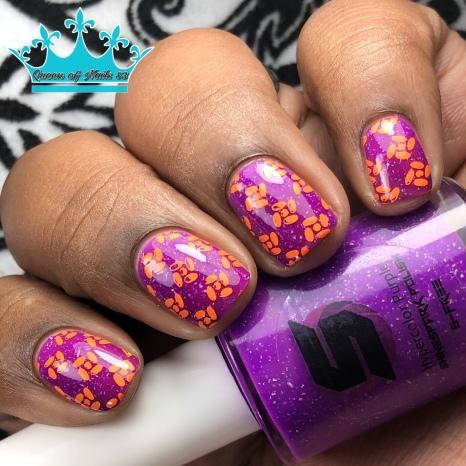Hypercolor Purple - w/ nail art