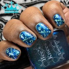 Aurora Borealis - w/ nail art