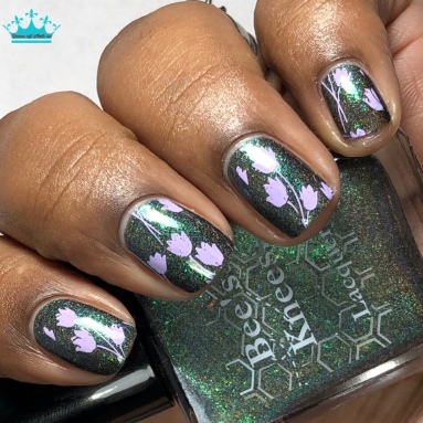 Once in a Teal Moon - w/ nail art