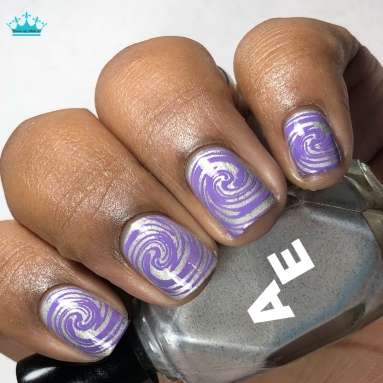 Silver Lining - w/ nail art