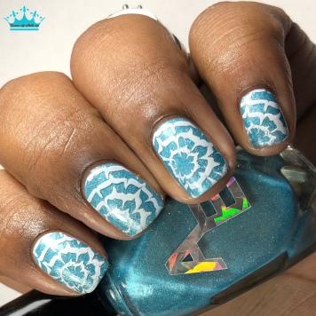 Spring Rain - w/ nail art