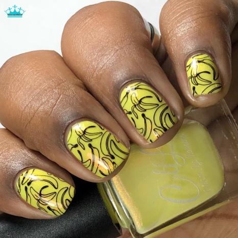 Banana Smoothie - w/ nail art