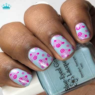 Blue-Eyed Girl Lacquer - The Ancient Power - w/ nail art