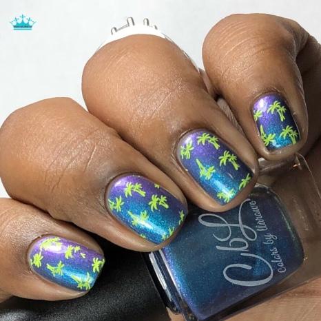 Surf's Up - w/ nail art