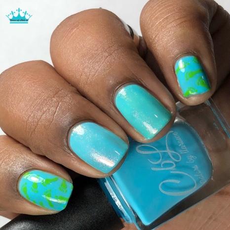 Azure Thing - w/ nail art