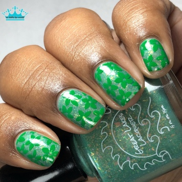 Great Lakes Lacquer - WTF Puck?! - w/ nail art