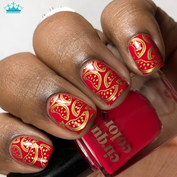 Strawberry Fields - w/ nail art