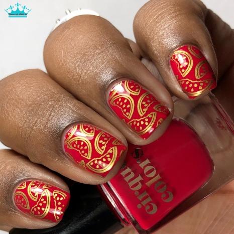 Strawberry Fields - w/ nail art
