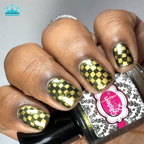 Black. Color of my Soul - w/ nail art