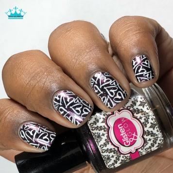 Sparkle & Skulls - w/ nail art