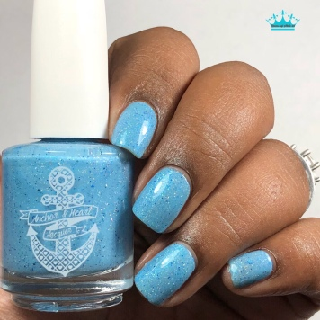 "Anchor & Heart Lacquer - ""Our Hearts Match"" - w/ glossy tc"