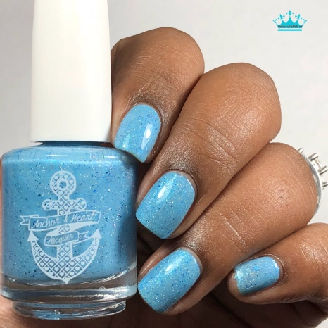 """Anchor & Heart Lacquer - """"Our Hearts Match"""" - w/ glossy tc"""