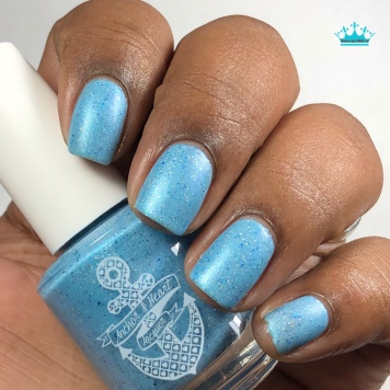 "Anchor & Heart Lacquer - ""Our Hearts Match"" - w/ matte tc"