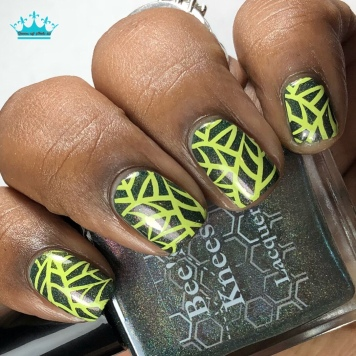 """Bee's Knees Lacquer - """"Family is More Than Blood"""" - w/ nail art"""