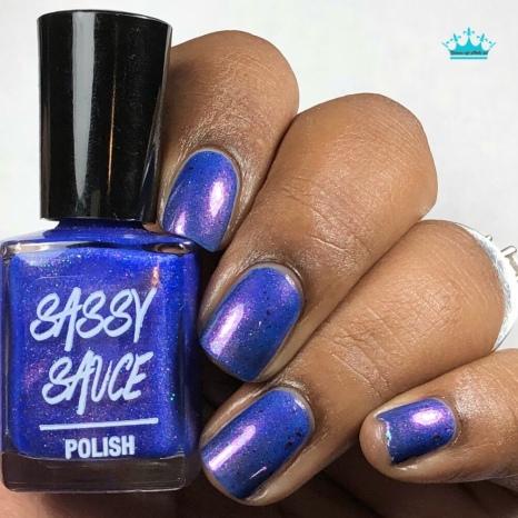 Sassy Sauce Polish - Diamonds & Drag - w/ glossy tc
