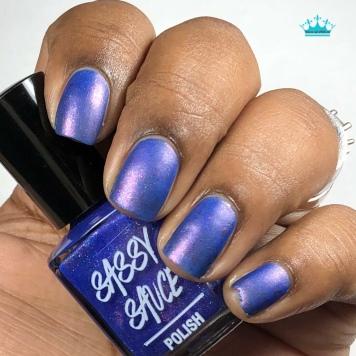 Sassy Sauce Polish - Diamonds & Drag - w/ matte tc