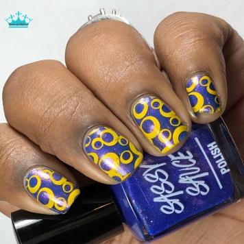 Sassy Sauce Polish - Diamonds & Drag - w/ nail art