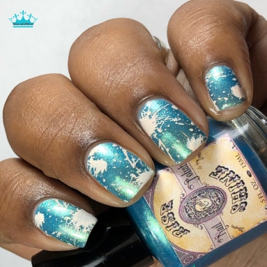 Rise and Shine Nail Polish - Wishes and Tears - w/ nail art