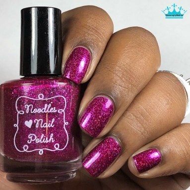 Noodles Nail Polish - Enchanted Love - w/ glossy tc