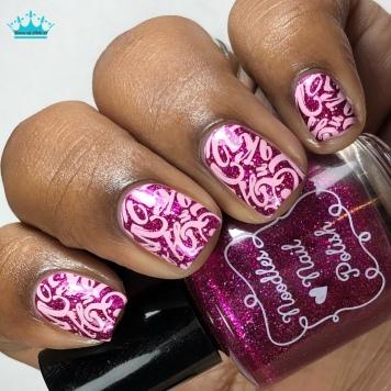Noodles Nail Polish - Enchanted Love - w/ nail art