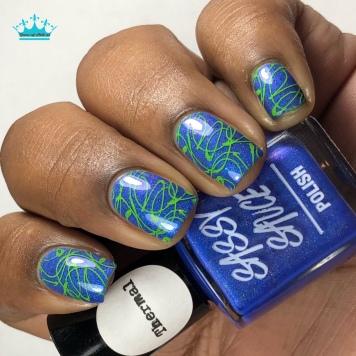 Rain Storm - w/ nail art