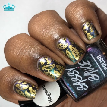 Galaxies Out the Sass - w/ nail art