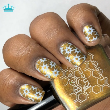 Bee's Knees Lacquer - Would You Kindly - w/ nail art