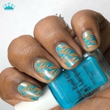 Blue-Eyed Girl Lacquer - Welcome to the Coast - w/ nail art
