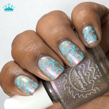 Great Lakes Lacquer - ...whatever - w/ nail art