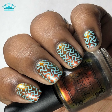 Calcifer - w/ nail art