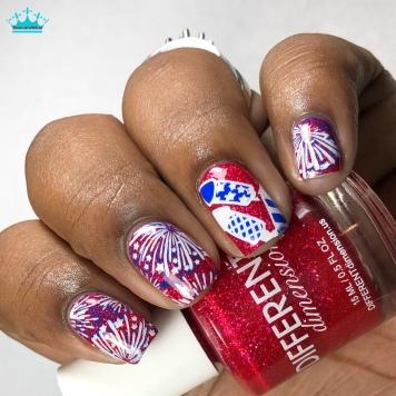 Stars & Stripes - w/ nail art