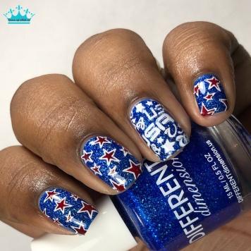 Freedom & Fireworks - w/ nail art