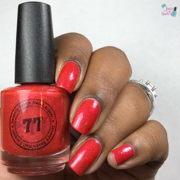 "77 Nail Lacquer - ""Fighting To Remember"" - w/ glossy tc"