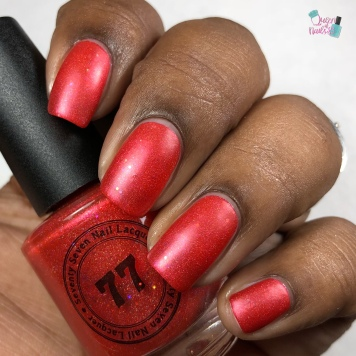 "77 Nail Lacquer - ""Fighting To Remember"" - w/ matte tc"