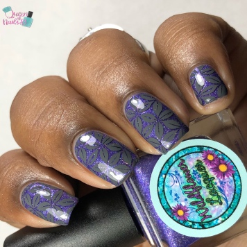 "Wildflower Lacquer - ""Moments & Memories"" - w/ nail art"