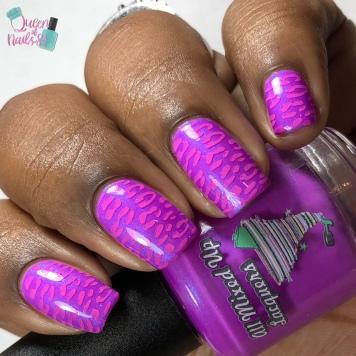 Purple People Eater - w/ nail art