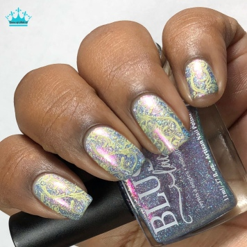 Blush Lacquers - Ride The Wave - w/ nail art