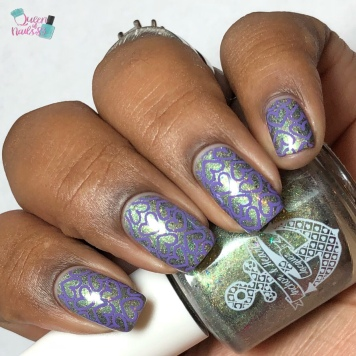 Night Blooming Garden - w/ nail art