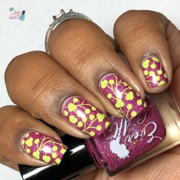 Raspberry Coolata - w/ nail art