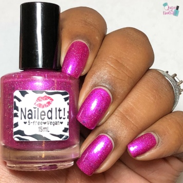 Nailed It Nail Polish - Berry Angelic - w/ glossy tc